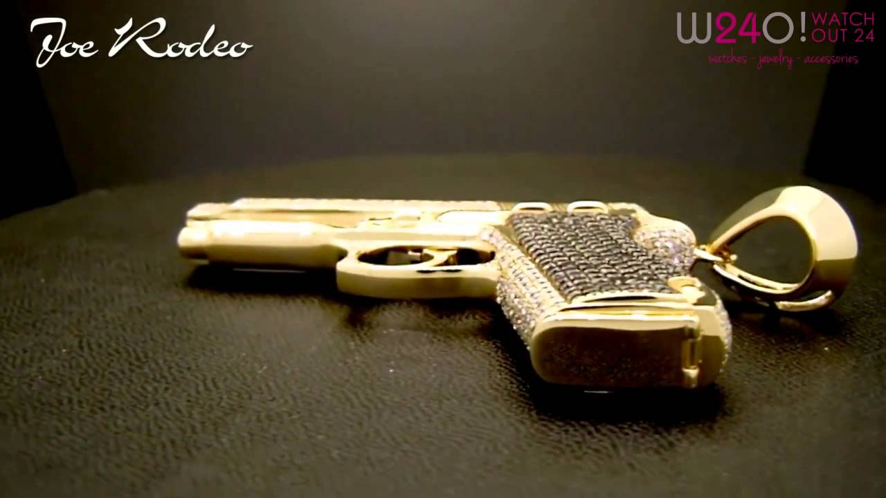 Joe rodeo custom made gun pendant 14k gold youtube joe rodeo custom made gun pendant 14k gold aloadofball Images