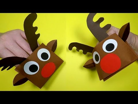 How to Make a Reindeer Puppet | Christmas Craft for Kids