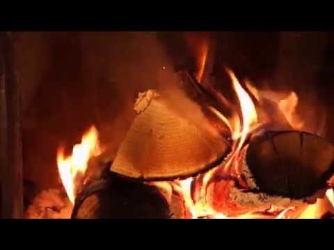 10 HOURS 🔥 Relaxing Wind & Hail Storm & Fireplace full HD