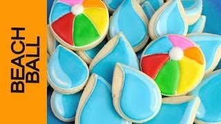 Beach Ball Cookies For Pool Party, Haniela's