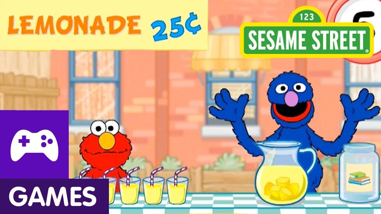 Sesame Street: Grover and Elmo's Lemonade Stand | Game ...