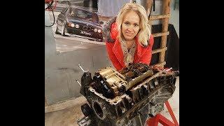 BMW 318i E46 N42 Motor mit Motorschaden bei 88' km komplett zerlegen in alle Einzelteile