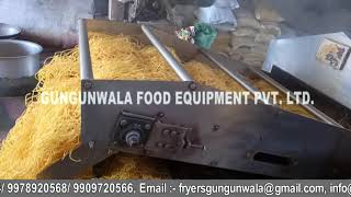 Continuous Namkeen Dal Fryer with Wooden Boiler
