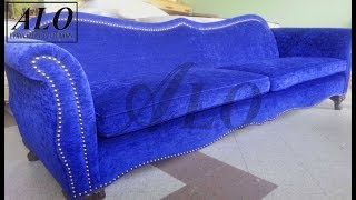 DIY - HOW TO UPHOLSTER A NEW SOFA FRAME - ALO Upholstery