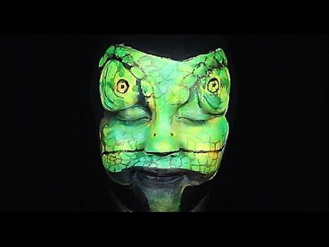 Rango Chameleon Makeup Tutorial Youtube