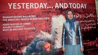 مريم رجوي تتفقد معرضا فی باریس 26 نوفمبر 2016