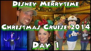 Disney Merrytime Christmas Cruise Vacation 2014- Day One: Embarkation Day