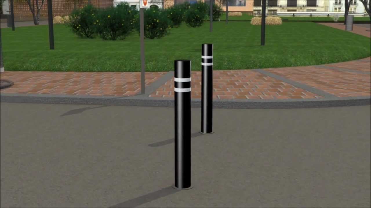 installing decorative bollards with embedded mountings - youtube