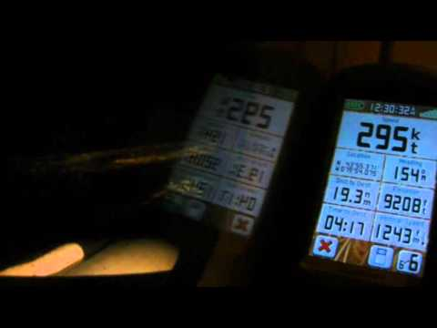 Air Canada Airbus A321 descent and landing with GPS speed, altitude, heading, vertical speed