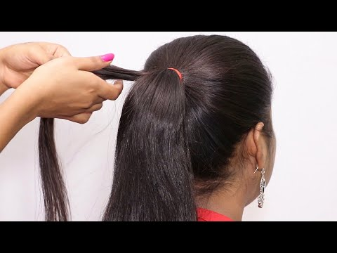 party-wear-hairstyle-for-medium-hair-//-easy-part-hairstyle-for-girls-//-bun-hairstyles