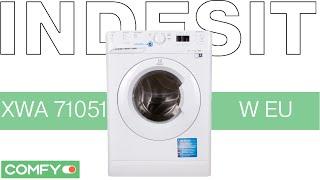 Indesit XWA 71051 W EU - стиральная машина с циклом стирки 9мин. - Видеодемонстрация от Comfy