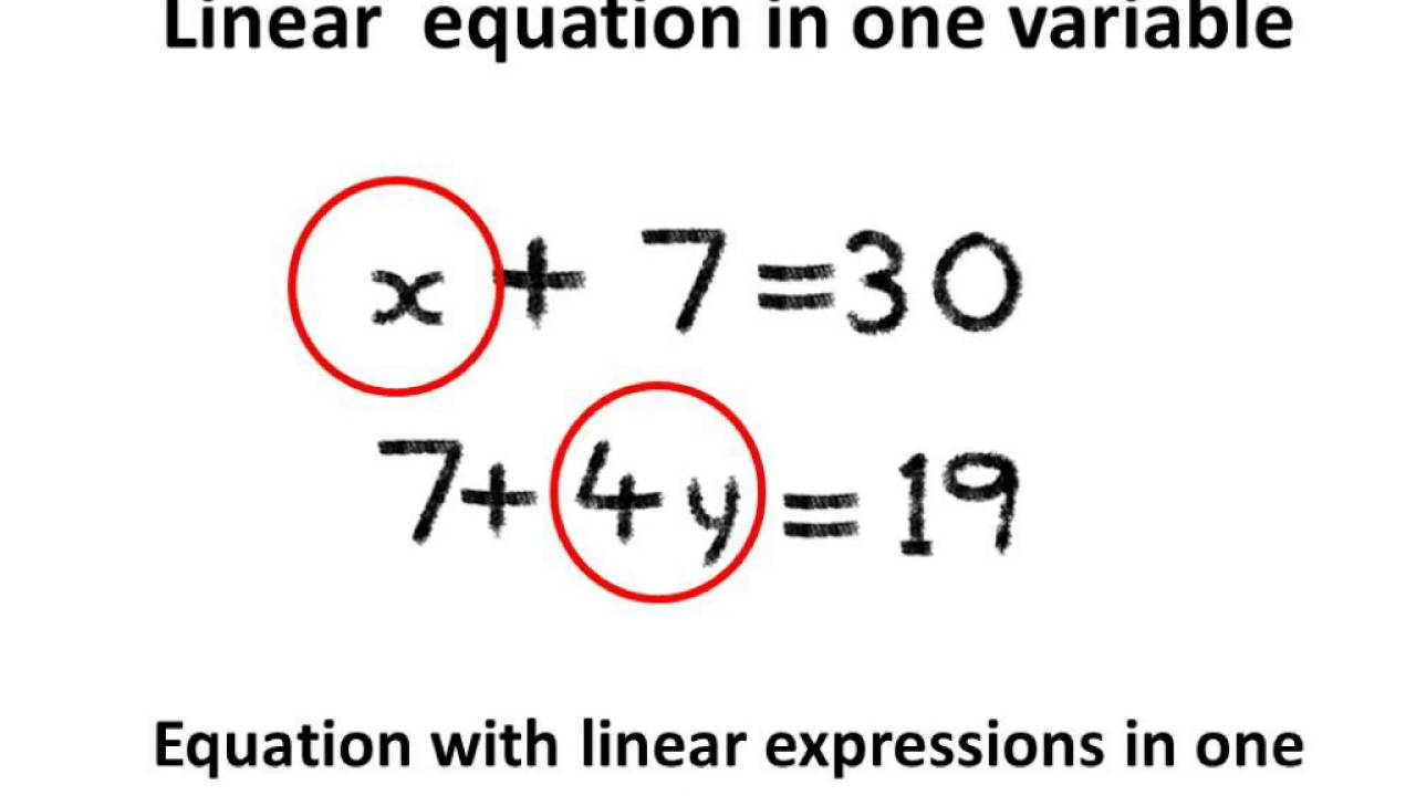 maths - what is linear equation and solving linear equation with