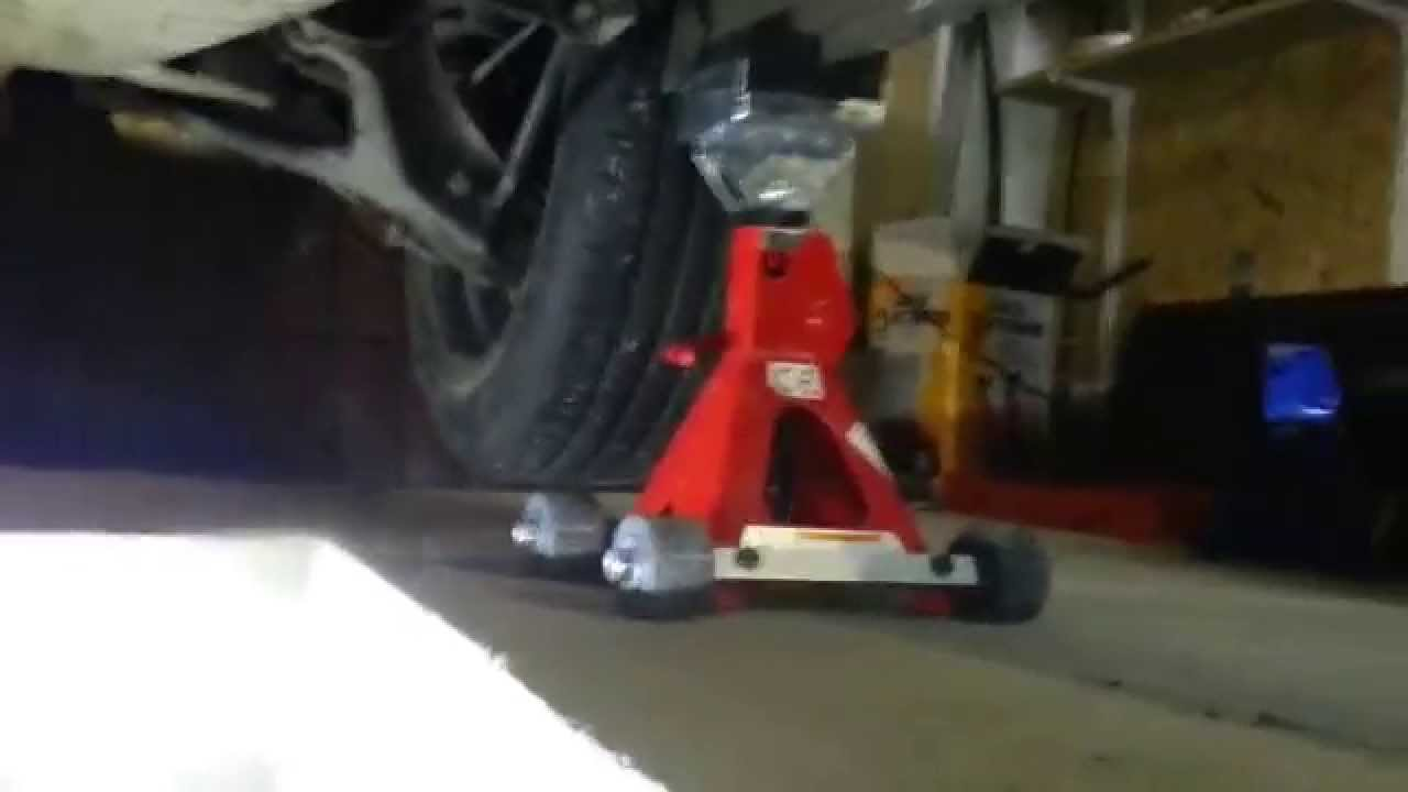 Car jack stands on diy wheels youtube for Stand auto