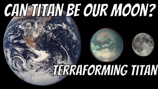 What If Titan Was a Moon of Earth? Terraforming Titan