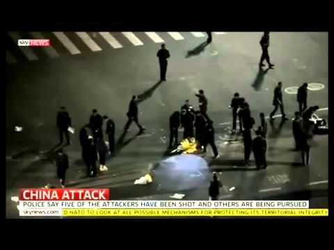 Muslim terrorists go on a rampage  Stab and kill 33 people in Kunming China, over 100 hurt