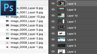 Photoshop Tutorial: Quickly Export Layers into Images