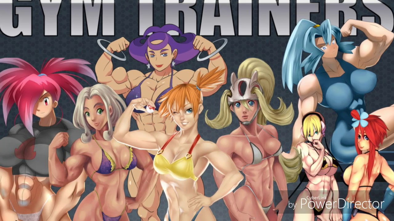 Pokemon female muscle growth story