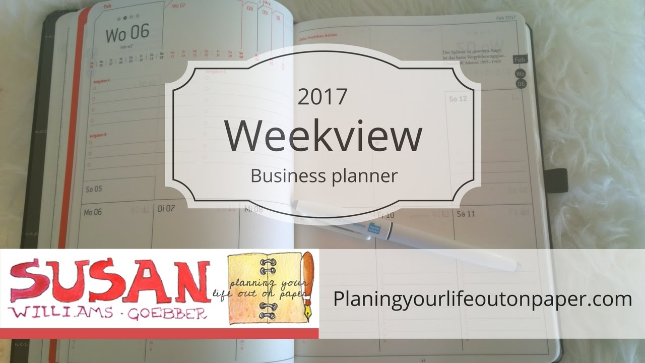 weekview 2017 business planner unboxing youtube