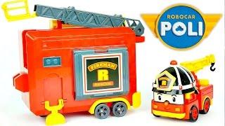 Робокар Рой с гаражом. Обзор игрушек Робокар Поли - ロボカーポリー 로보카 폴리 - Ro bo ka Polli