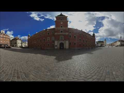Old Town in Warsaw Poland 360° 3D 4K