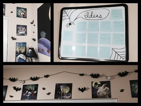 room decor update diy ideas nightmare before christmas halloween