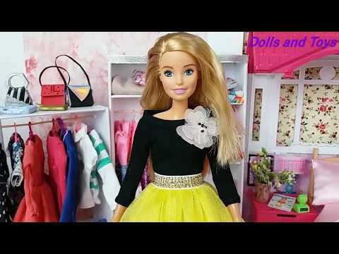Barbie Ken Video Life in the Dreamhouse Morning Bedroom routine.❤️Barbie Doll New Dress. Play Dolls