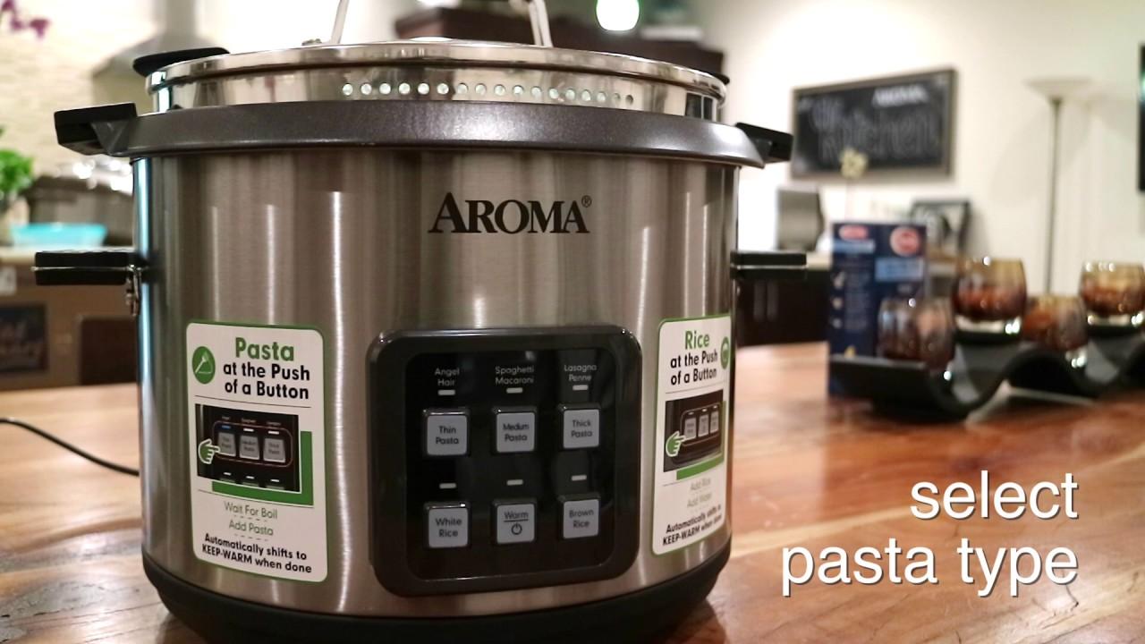 Aroma 2-in-1 Pasta & Rice Cooker - easy pasta (AMC 200D)