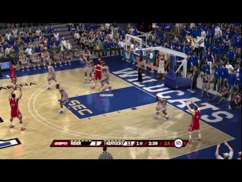 Ncaa Basketball 10 Ps3 Kentucky Vs Rider Espn Youtube