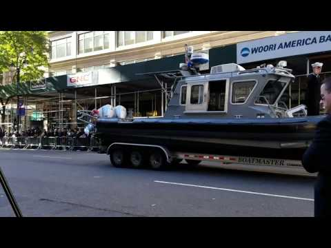 USA Naval Patrol Boat Displayed In The Veterans Day Parade In Manhattan, New York