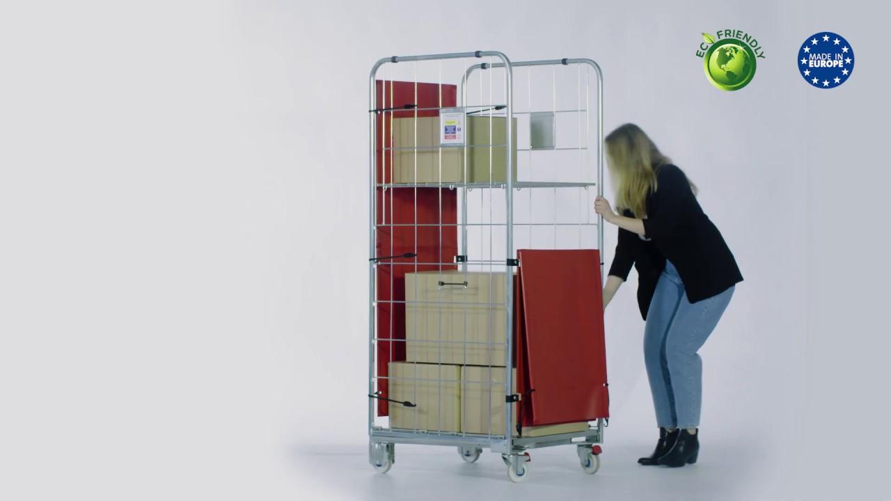 Video Foldable Textile Doors