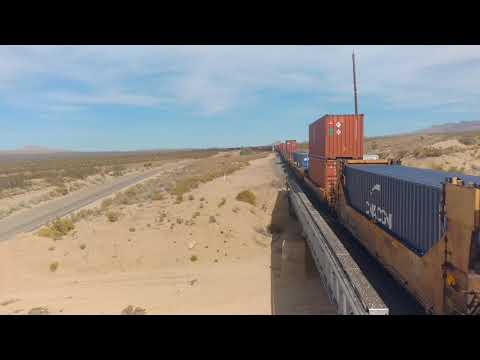 Westbound Union Pacific - Mojave National Preserve (2)