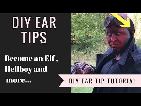 DIY Elf / Hellboy Ear Tips Cosplay Tutorial