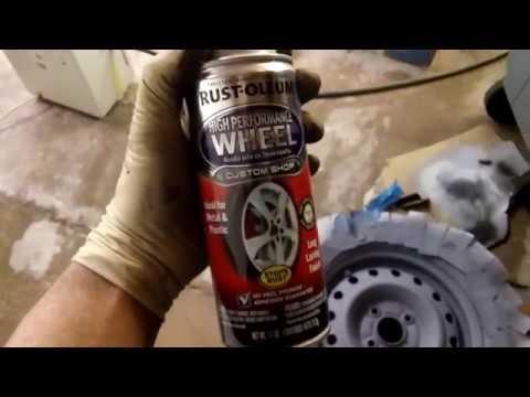 Steel wheels: restoring and painting/ Реставрация железных дисков