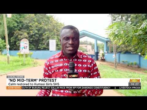 Calm restored to Kumasi Girls SHS - Adom TV News (20-7-21)