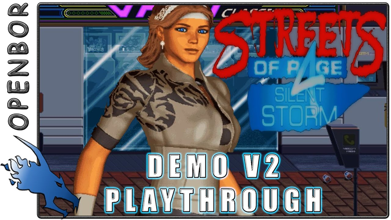 Streets of Rage 4 - Silent Storm | Blaze | Openbor Free Fangame | Demo v2  Playthrough - HD