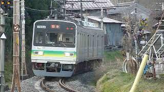 秩父鉄道7800系7804編成「羽生行き」上長瀞駅付近通過