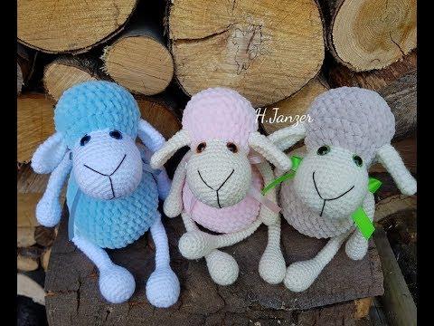 Вязанные игрушки крючком схемы и описание овечки