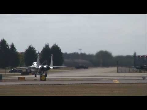 F15 aircraft of the USAF 48th Fighter Wing at Lakenheath