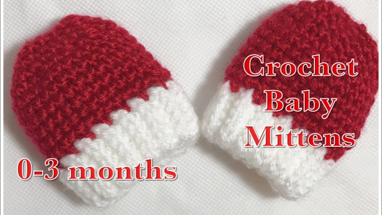 Stay-on Crochet baby mittens 0-3 months fast and easy to do  95 ... d4a6e32ccf8d