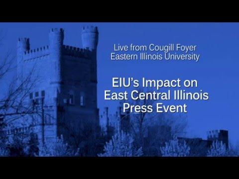 EIU's Impact on East Central Illinois Press Event