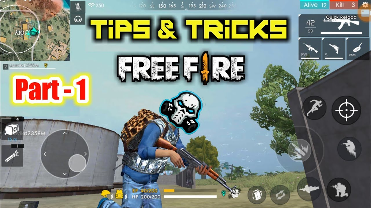 Best Pro Tips & Tricks For Free Fire | Garena FreeFire Pro Tips Part - 1🔥