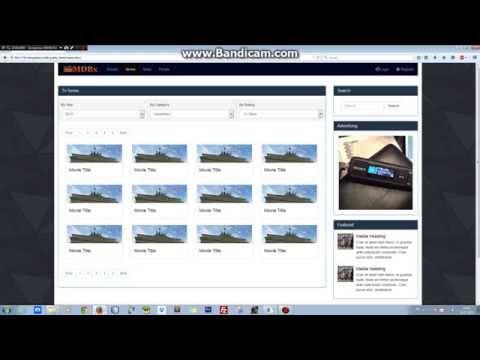 Html Movie Template Html5 Template Movie Html Template Film Youtube