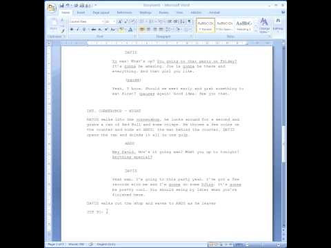 How to format your script