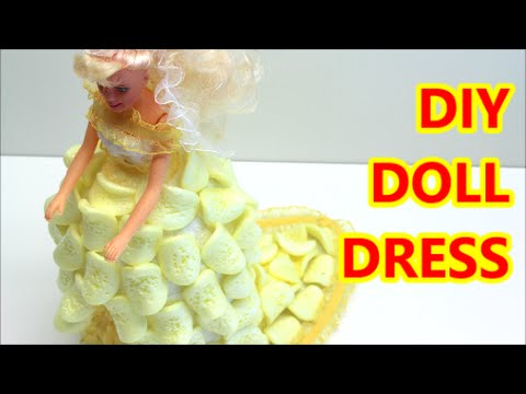 Diy Doll Dress Crafts Ideas From Plastic Bottle And Packing Chips