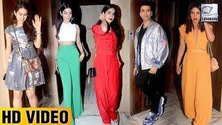 Sara Ali Khan, Janhvi Kapoor & Priyanka Chopra  At Manish Malhotra
