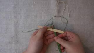 The lace netting knot - Pitsiverkkosolmu