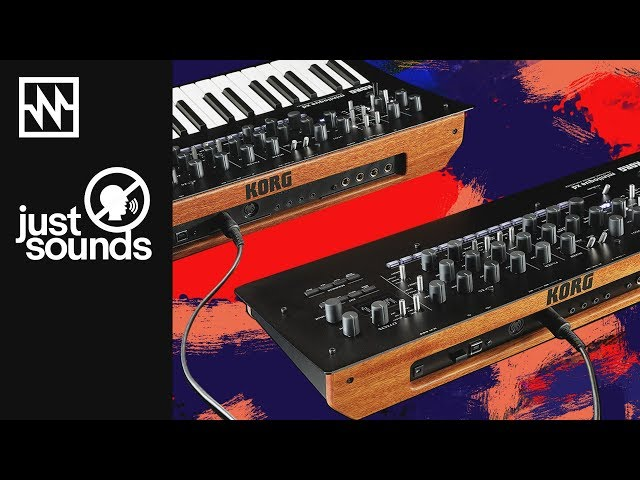 Just Sounds: KORG minilogue xd Keyboard + minilogue xd Module Poly Chained