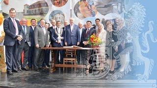 Kabinettssitzung in Alzenau - Bayern