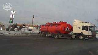 19.01.2019 Ачинск. Момент аварии на ш. Нефтяников/Р-255