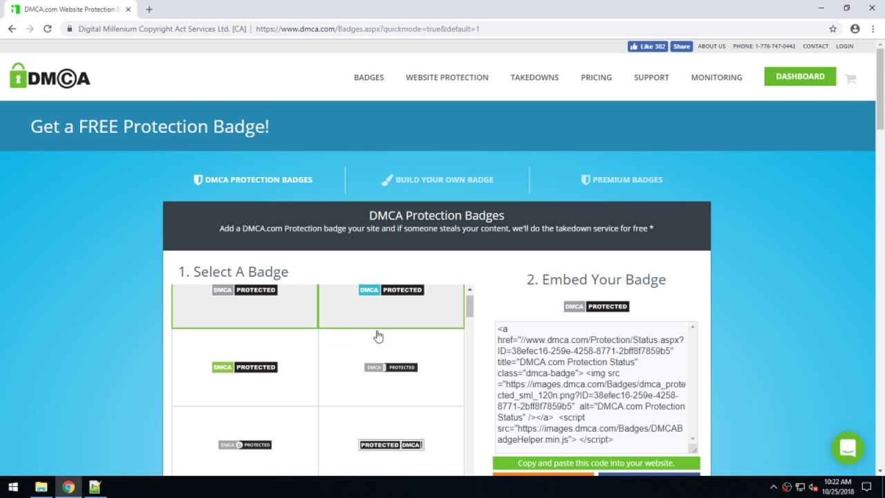 How Do I Add A Dmca Protection Badge To My Website